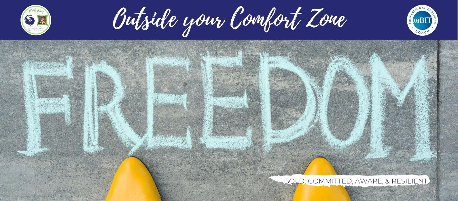 outside your comfort zone, escape the cage, ditch the diet, face the feelings, finding freedom, a diet-free life, human becomings, consequences of staying put